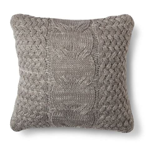 knit throw pillow cable knit throw pillow threshold
