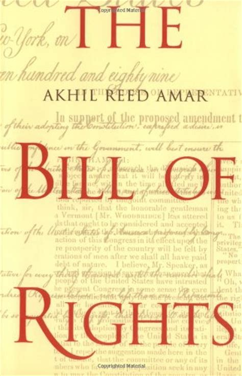 bill of rights picture book biography of author akhil reed amar booking appearances
