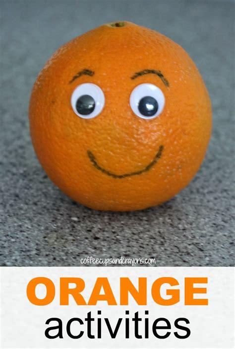 orange craft for orange craft and snack for preschool