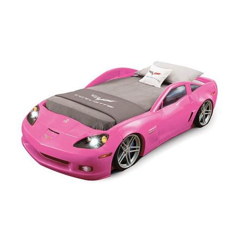 corvette toddler to bed corvette toddler to bed with lights pink cars