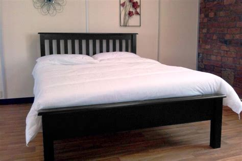 black frame bed furniture black finish oak storage bed frame with brown