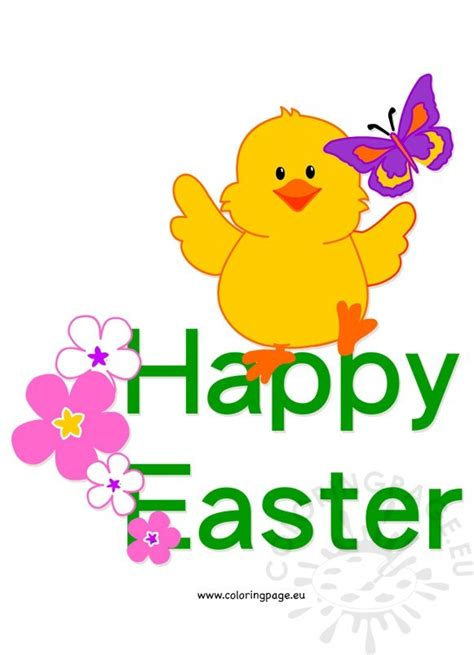 Free Happy Easter Clip by Happy Easter Clip Coloring Page