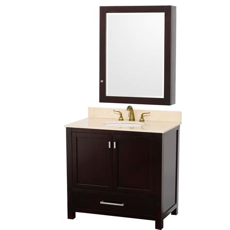 bathroom vanity mirrors with medicine cabinet wyndham collection 36 inch abingdon bathroom vanity wc