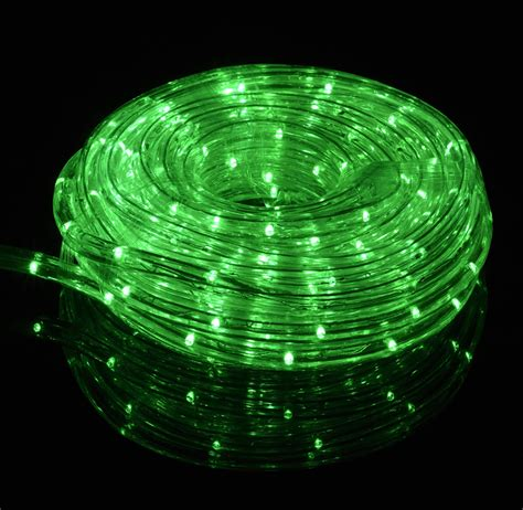 green led string lights green led outdoor string rope light 33ft clear