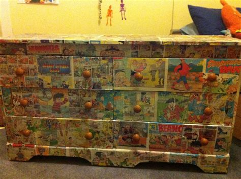 decoupage comics decoupage beano and dandy comic drawers decoupage