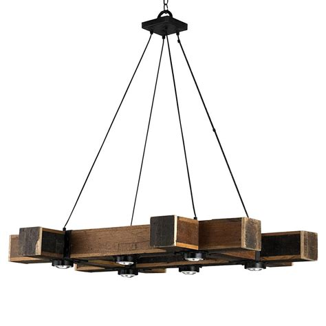lodge chandelier boondocks rustic lodge chunky wood 6 light chandelier