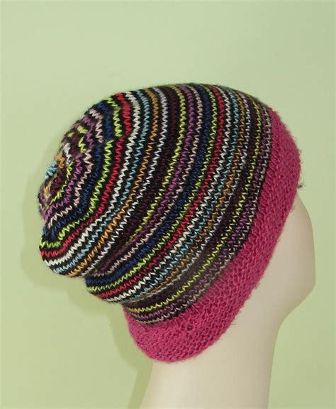 circular knitting patterns himalaya stripe beanie hat circular knitting pattern