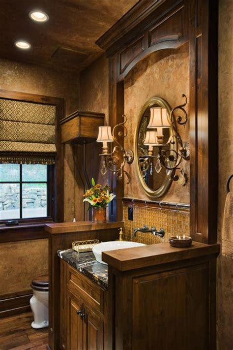 Cheap Wall Murals Wallpaper tuscan inspired bathroom design paperblog