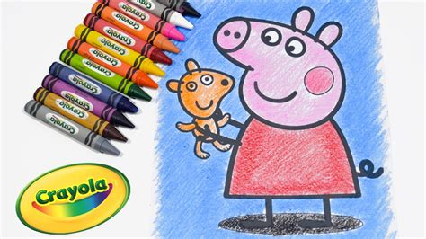 crayon picture book peppa pig coloring pages coloring book learn coloring