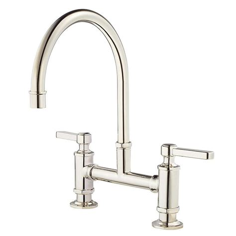 polished nickel kitchen faucets shop pfister port polished nickel 2 handle deck mount high arc kitchen faucet at lowes
