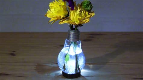 lights in a vase how to make a light bulb vase