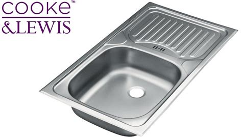cooke and lewis kitchen sinks cooke lewis stainless steel kitchen sinks drainer waste