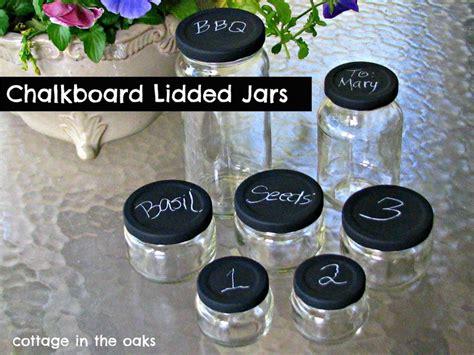 chalkboard paint jar lids chalkboard lidded jars