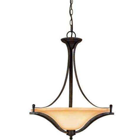 home depot pendant lights commercial electric 3 light rustic iron pendant