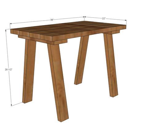 desk plans woodworking free woodwork trestle desk plans pdf plans