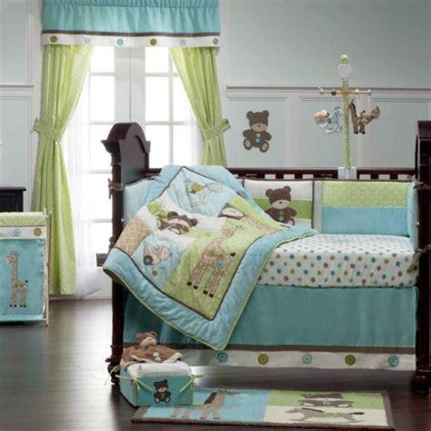 blue green crib bedding blue green teddy toys neutral baby nursery 9p crib