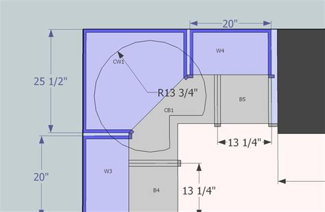 lazy susan base cabinet sizes cabinet standards finish carpentry contractor talk