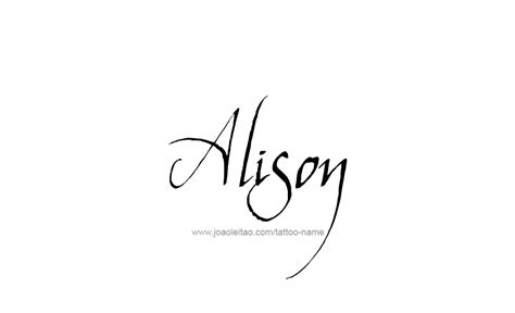alison name tattoo designs
