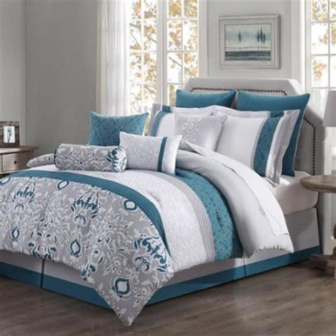 reversible comforter set in teal 10 reversible comforter set teal gray ivory