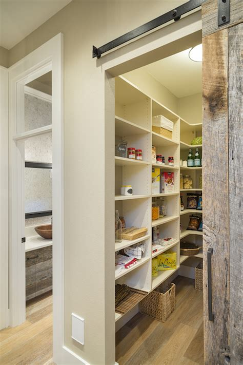 barn door for pantry pantry with barn door transitional kitchen ttm