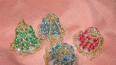 beaded bell ornament itty bitty beaded bells tree ornaments from