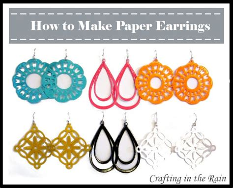 how to make paper jewelry someday crafts paper earrings