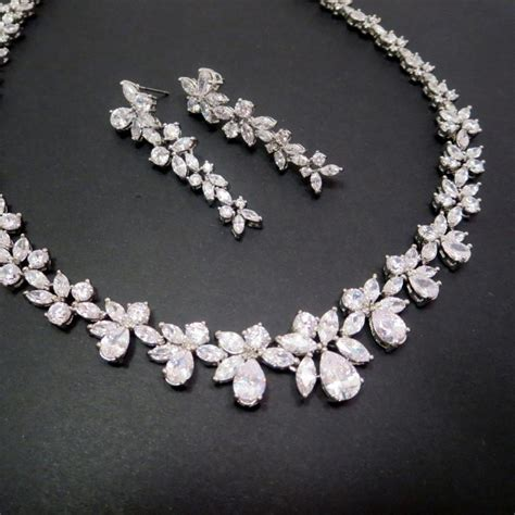 how to make rhinestone jewelry bridal necklace set wedding jewelry set necklace
