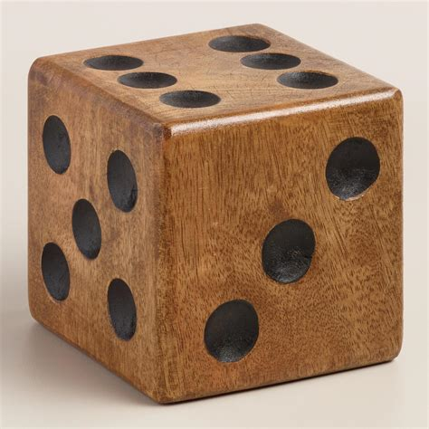 large wooden large wood dice paperweight world market