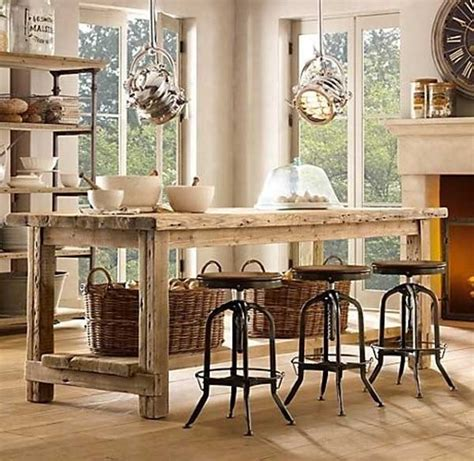 farm table kitchen island 32 simple rustic kitchen islands amazing diy interior home design