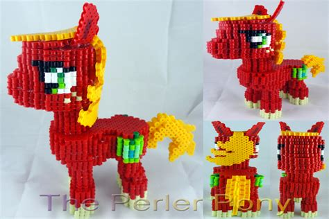 my pony perler my pony 3d perler big mac by perler pony on deviantart
