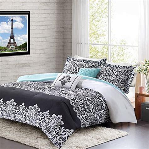 decorative comforter sets comforter sets teal black white damask bedding
