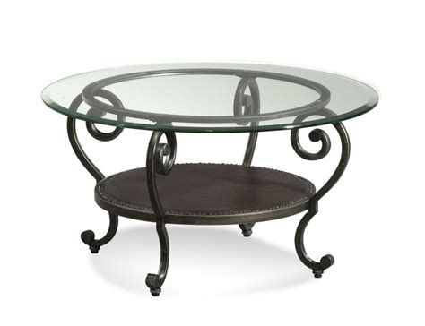 Coffee Tables Ideas: Top round glass and metal coffee table Round Aluminum Coffee Table, Round
