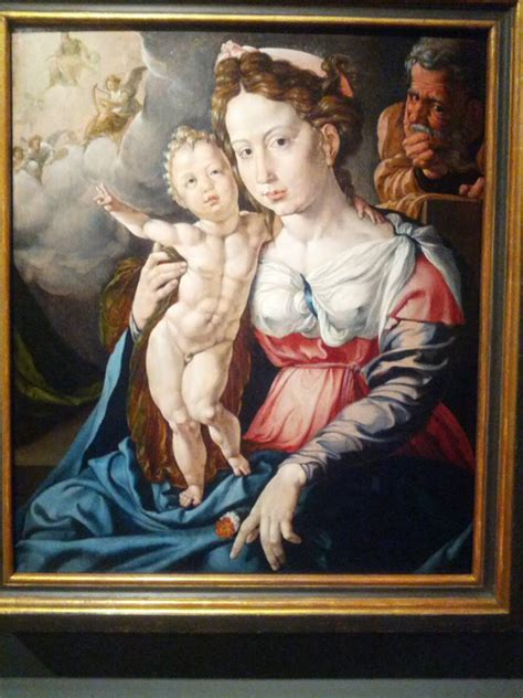 I found this in a museum in Amsterdam. I give you Body Builder Infant Jesus giving the Peace