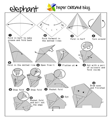 how to make a elephant origami origami elephant paper origami guide
