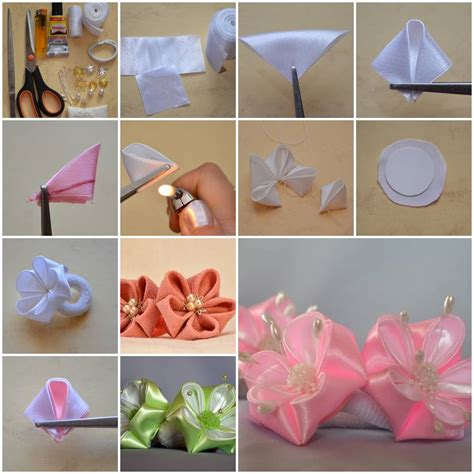 how to make from flowers how to make beautiful flowers of ribbon bow step by step
