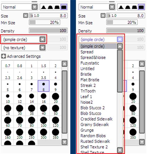 paint tool sai shapes understanding brushes and textures in painttool sai