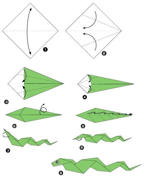 origami snake serpent origami snakes origami and