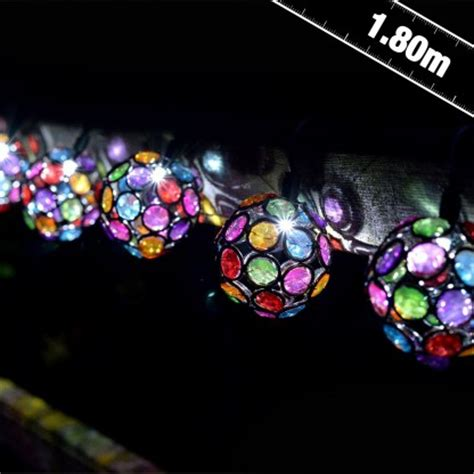 solar string lights uk solar multi coloured glow gem string lights