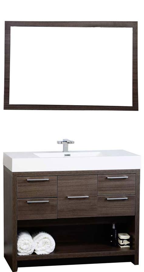 bathroom vanities tn 40 quot modern bathroom vanity set with grey oak finish tn