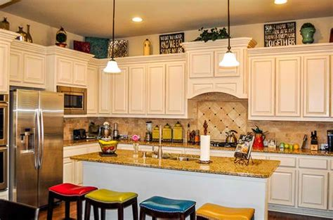 decorating ideas for kitchen cabinet tops how to decorate the top of kitchen cabinets home design lover