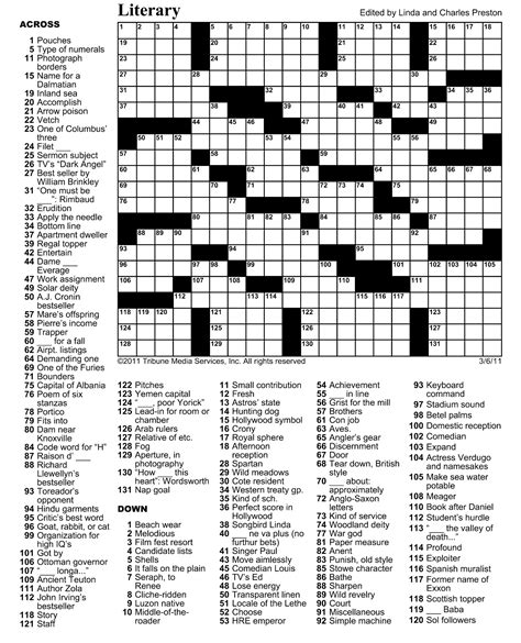 crossword clue march 9 crossword puzzle crossword puzzle indy week