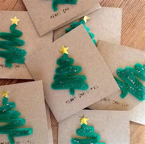 how to make a tree card 15 diy cards can make letters from santa