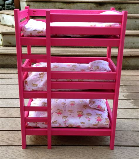 18 doll bunk bed woodwork diy 18 inch doll bunk bed plans pdf free