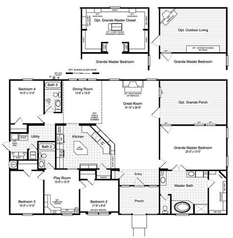 home building plans view the hacienda ii floor plan for a 2580 sq ft palm harbor manufactured home in buda