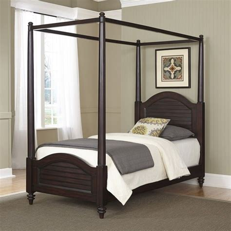 wood canopy bed wood canopy bed in espresso 5542 410