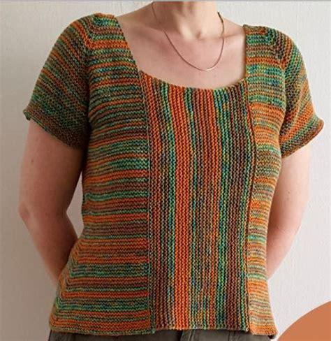 knit garter stitch garter stitch summer sweater allfreeknitting