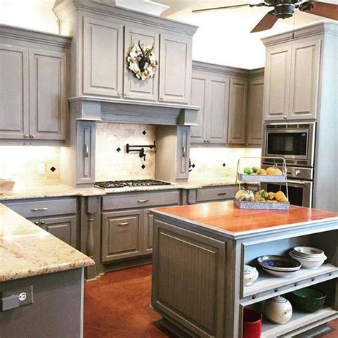 chalk paint grey kitchen cabinets the world s catalog of ideas