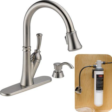 delta savile kitchen faucet delta savile stainless 1 handle pull kitchen faucet dandk organizer