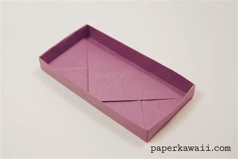 rectangle origami origami rectangular envelope box tutorial paper kawaii