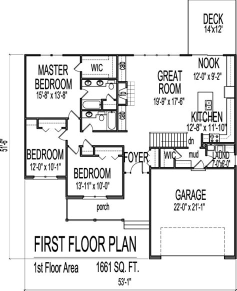 3 bedroom floor plans with basement simple house floor plans 3 bedroom 1 story with basement